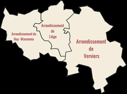 Carte de la Province de Liège